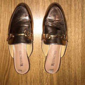 Bronze loafers